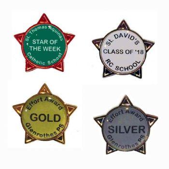 Custom Text Star Badge